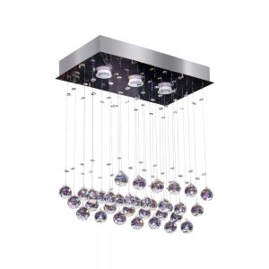 Plafon Bronzearte Crystal Ball LED Rt 3X5W GU10
