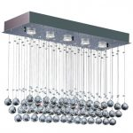 Plafon Bronzearte Crystal Ball LED Rt 5X7W GU10