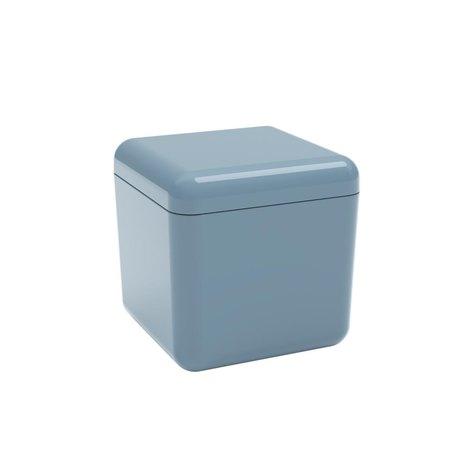 Porta Algodão e Cotonetes Cube Coza Azul Fog