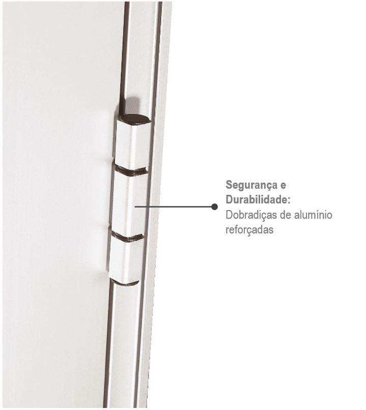 Porta C/Lambris Alumifort Branco Dir. 2,16x88x5,4