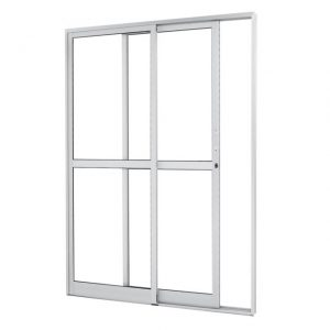 Porta Correr Branca 2F. 210×140