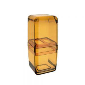 Porta Escova Coza com Tampa Cube Mel