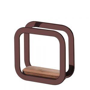 Porta Guardanapos Future com Madeira Bronze