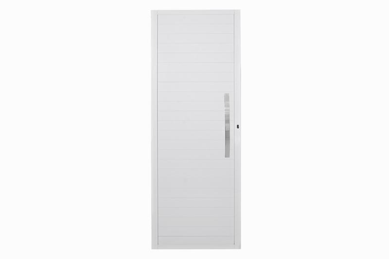 Porta de Abrir com Lambri e Puxador Branco Dir, 210×100