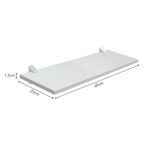Prateleira Concept com Suporte Branco 1,5x25x60