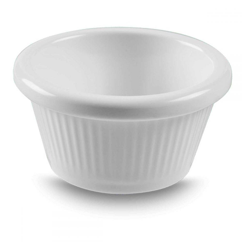 Ramekin Pote Canelado Ramificado Branco 7,3×3,8 50ml