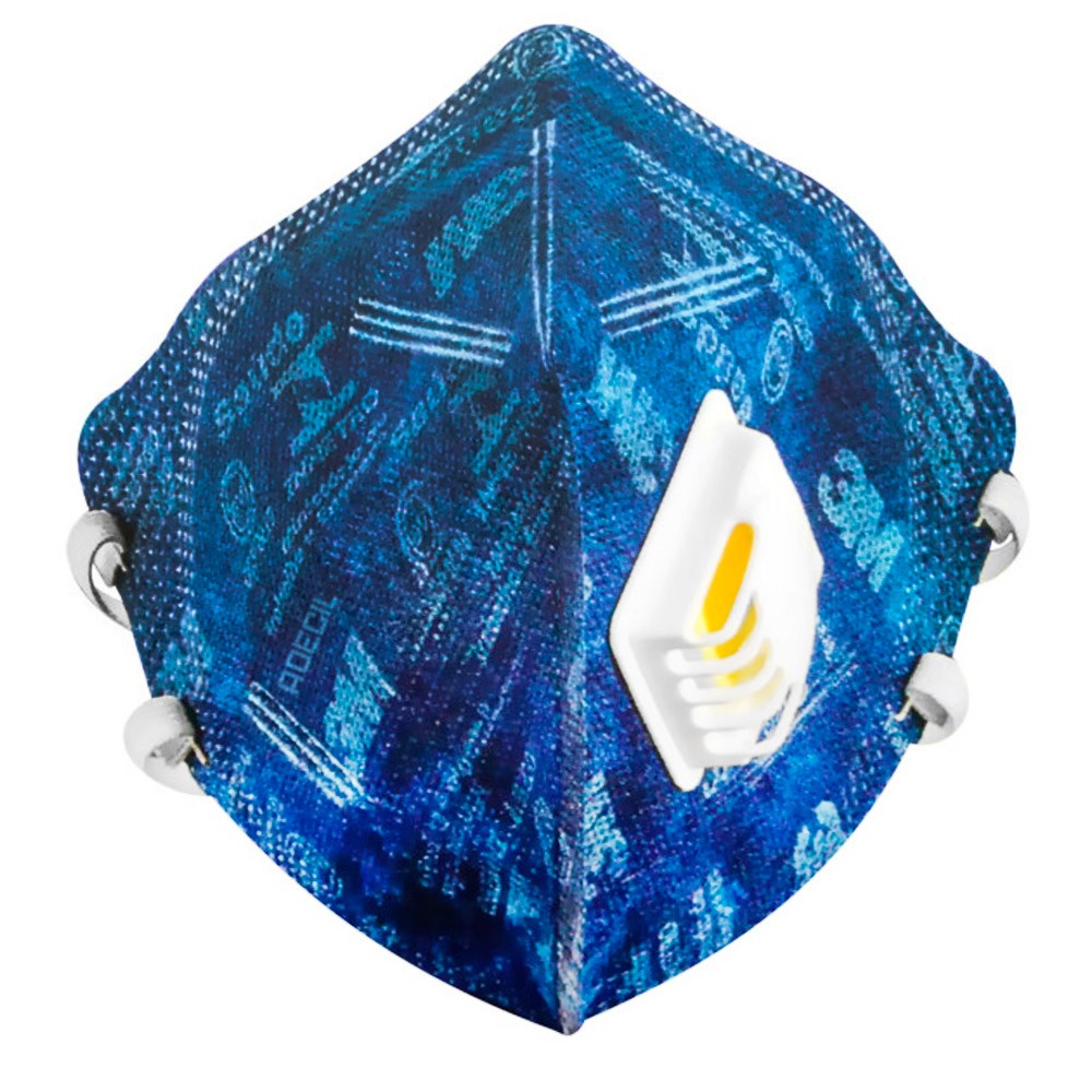 Respirador Dobrável 3M Azul C/ Válvula