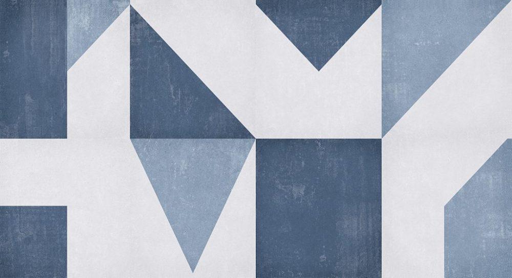 Revestimento Bianco Gres 32×60 Angoli Blu 2,3m/12Pçs