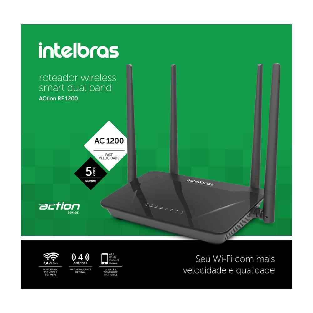 Roteador Wireless Action RF1200 Intelbras