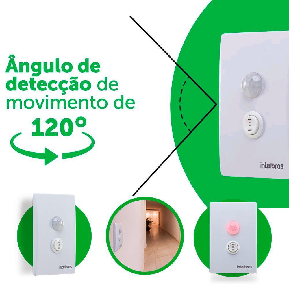 Sensor de Presença P/Iluminação Intelbras 180E+