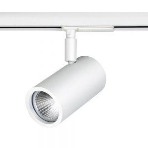 Spot para Trilho Lisse PAR16 GU10 GZ10 Branco – 107x56x89mm