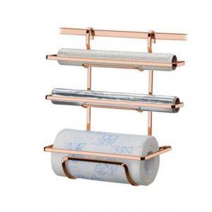 Suporte Future para Rolo Papel Toalha/Alum/PVC Rose Gold
