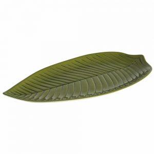 Travessa Folha Longa Verde 45×24,2×3,6