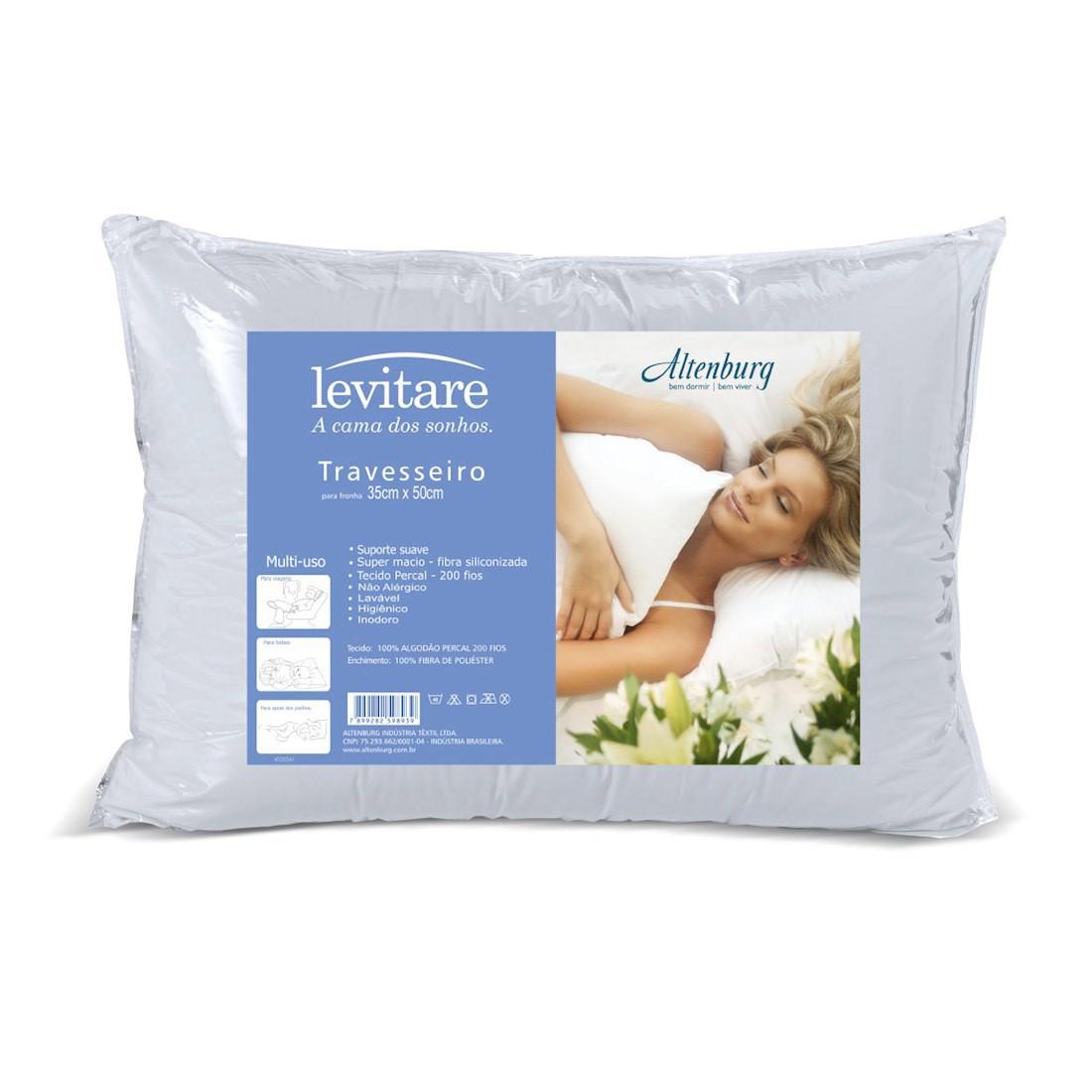 Travesseiro Altenburg 35×50 Levitare Multiuso Branco