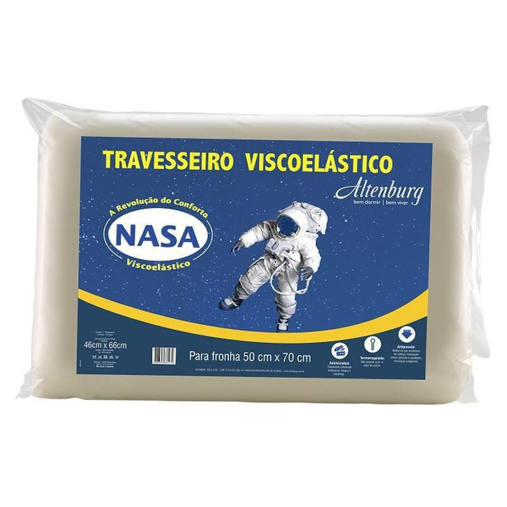 Travesseiro Altenburg 46×66 Visco Elástico Nasa Marfim