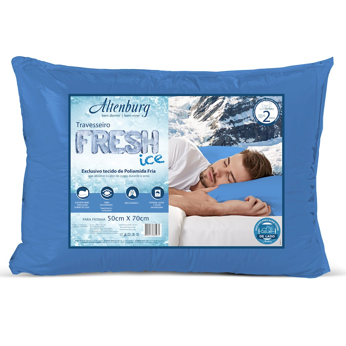 Travesseiro Altenburg 48×70 Fresh Ice Azul