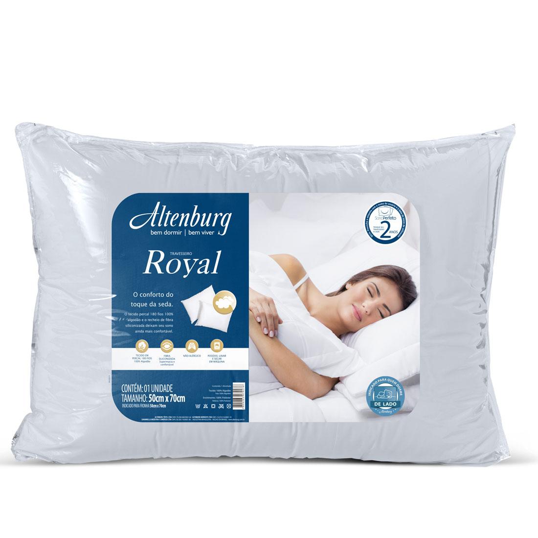 Travesseiro Altenburg 50×70 Royal Branco