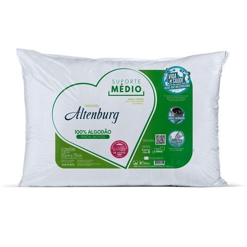 Travesseiro Altenburg 50×70 Suporte Médio 180 Fios Branco