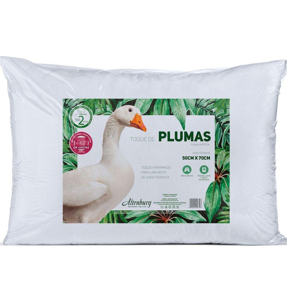 Travesseiro Altenburg 50×70 Toque de Pluma Branco