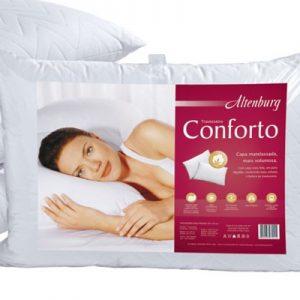 Travesseiro Altenburg 50x90cm Conforto Branco