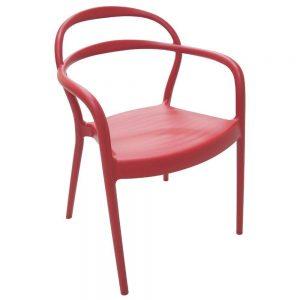 Cadeira Tramontina com Braço Sissi Vermelha