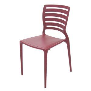 Cadeira Tramontina Sofia Vertical Vermelho Marsala