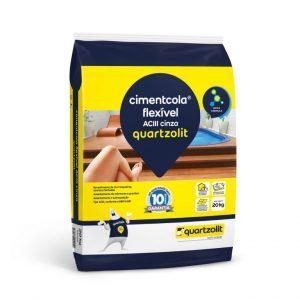 Argamassa Quartzolit AC III Cinza Cimentcola Flex Externa 20kg