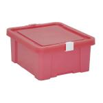 Caixa Organizadora 17L Tramontina Laundry Rosa