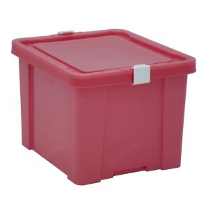 Caixa Organizadora 30L Tramontina Laundry Rosa