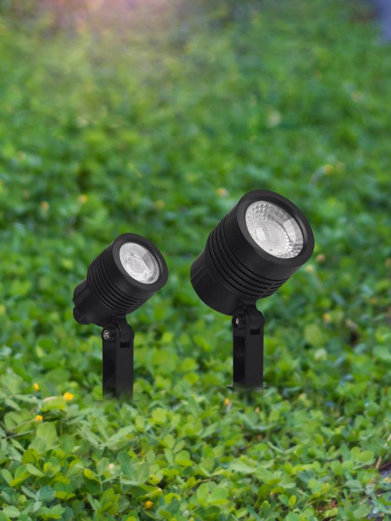 Espeto Taschibra para Jardim Noir LED MR11 3W 6500K