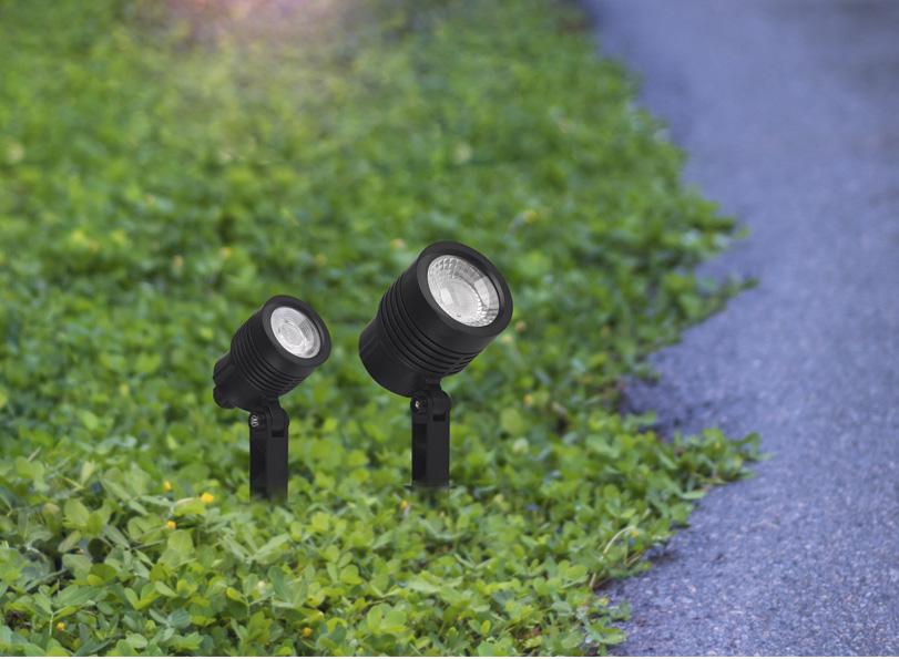 Espeto Taschibra para Jardim Noir LED MR16 6W 6500K