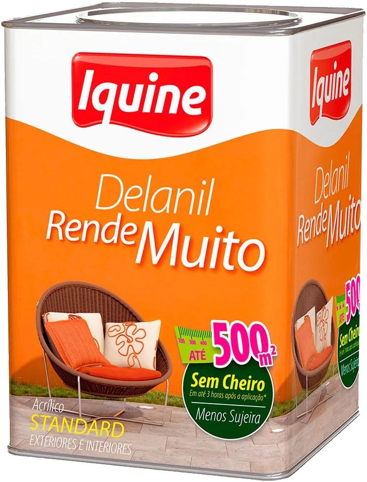 Tinta Iquine Acrílico Delanil Branco Neve 18L