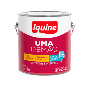 Tinta Iquine Acrílico Uma Demão Branco Neve 3,6L