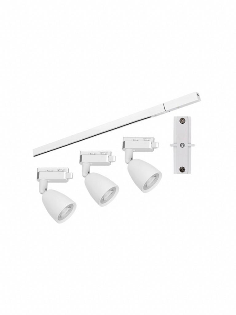 Kit Trilho Taschibra Direct LED 3000K Branco