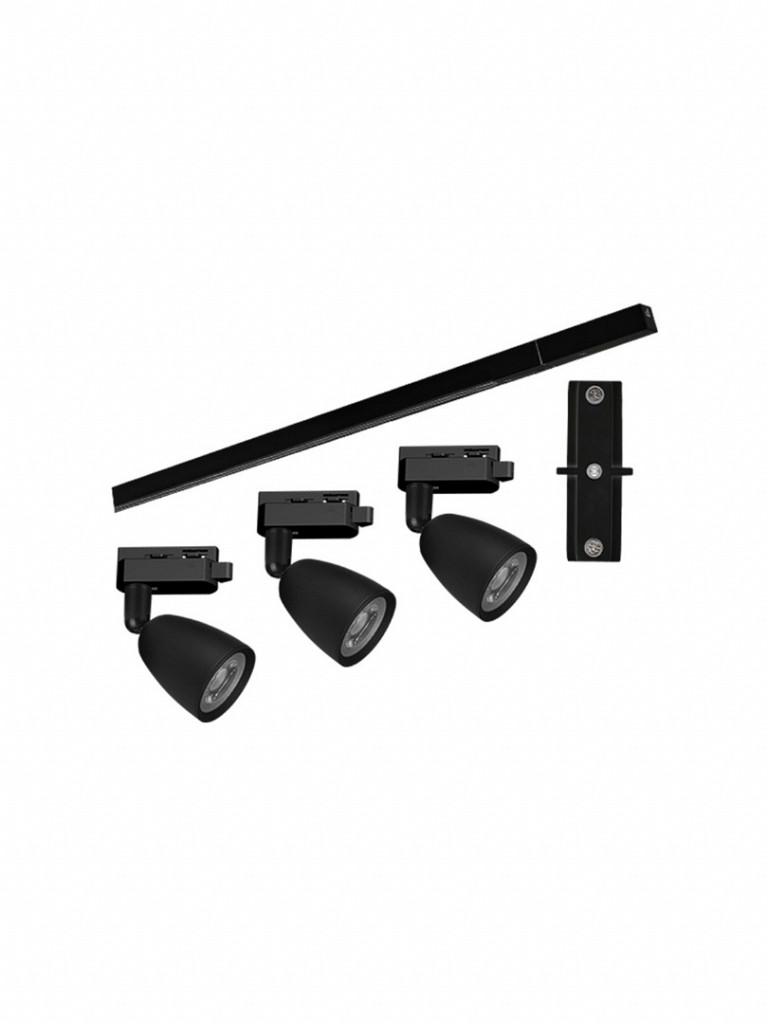 Kit Trilho Taschibra Direct LED 6500K Preto
