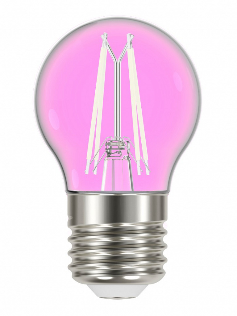 Lâmpada Taschibra LED Filamento Color G45 Rosa