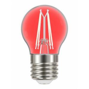 Lâmpada Taschibra LED Filamento Color G45 Vermelha