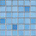Pastilha Porcelana Belamari 5×5 Azul Calhau 1,08m/9pçs