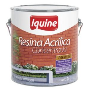 Resina Acrilica Concentrada Incolor Iquine 3,6L