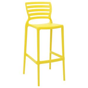 Cadeira Tramontina Sofia Alta Bar Amarelo
