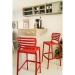 Cadeira Tramontina Sofia Alta Bar Vermelho