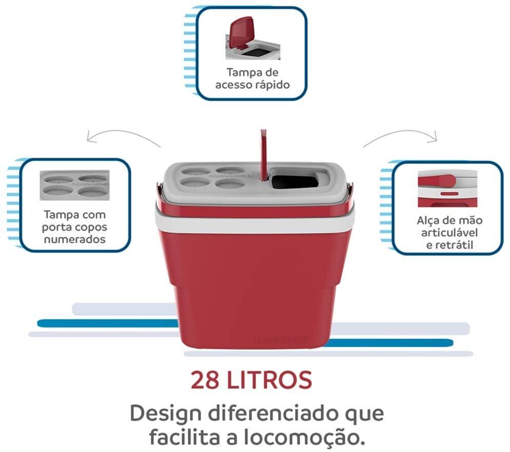 Caixa Térmica Tropical Soprano 28L Vermelha