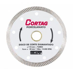 Discos de Corte Diamantado Turbo Porcelanato 110mm