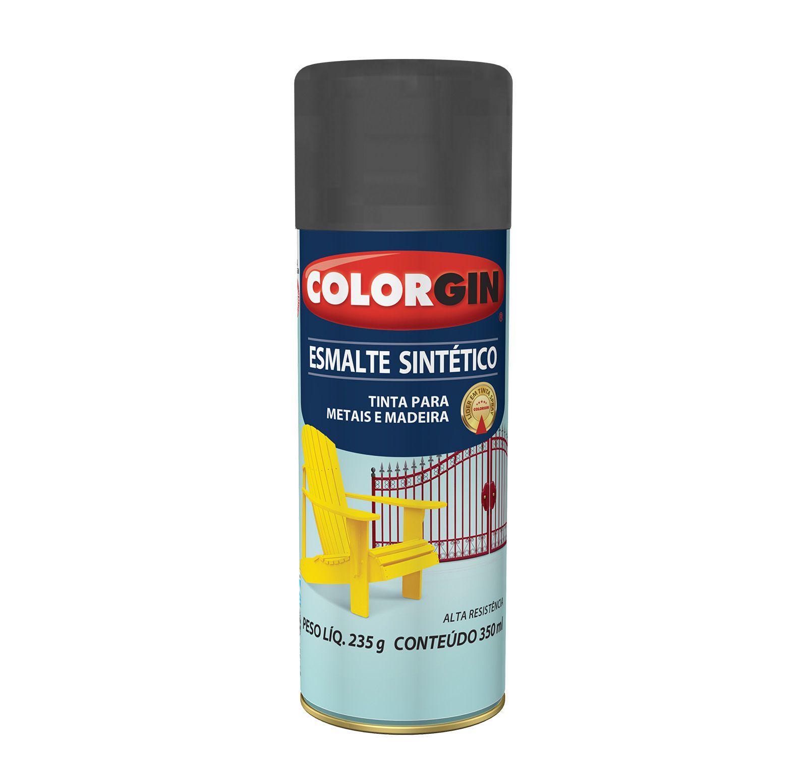 Spray Colorgin Esmalte Sintético Preto 350ml