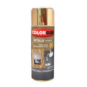 Spray Colorgin Metallik 350ml Dourado