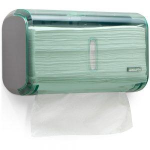 Dispenser Toalheiro Compacto Urban Glass Verde