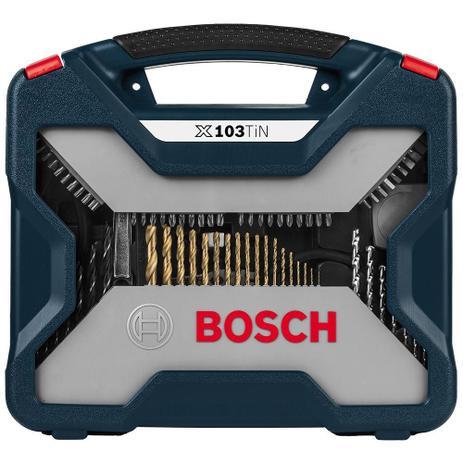 Jogo de Acessórios Pontas e Brocas X-line Bosch – 103 Peças