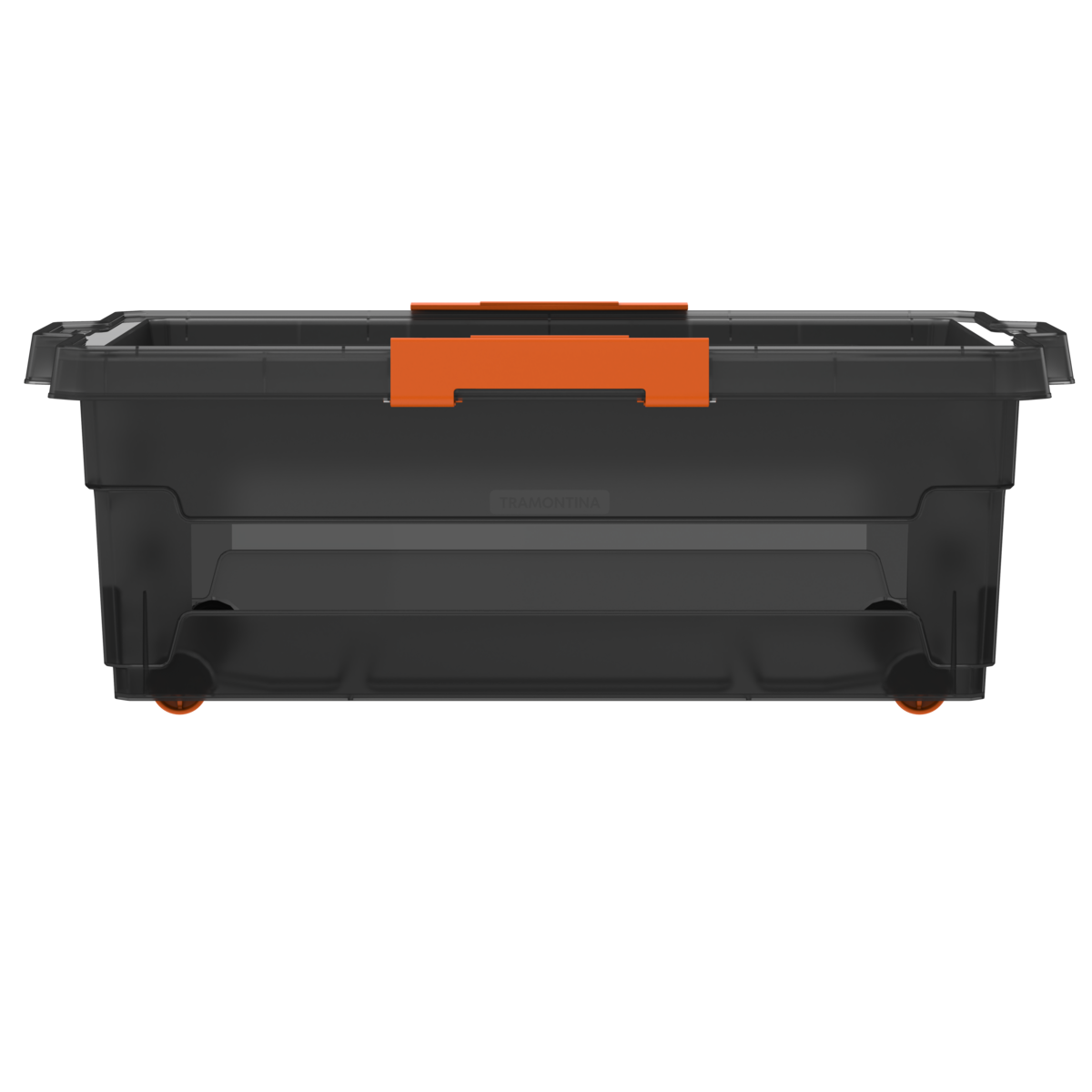 Caixa Organizadora Tramontina T-Force 40L com Rodas em Polipropileno Transparente